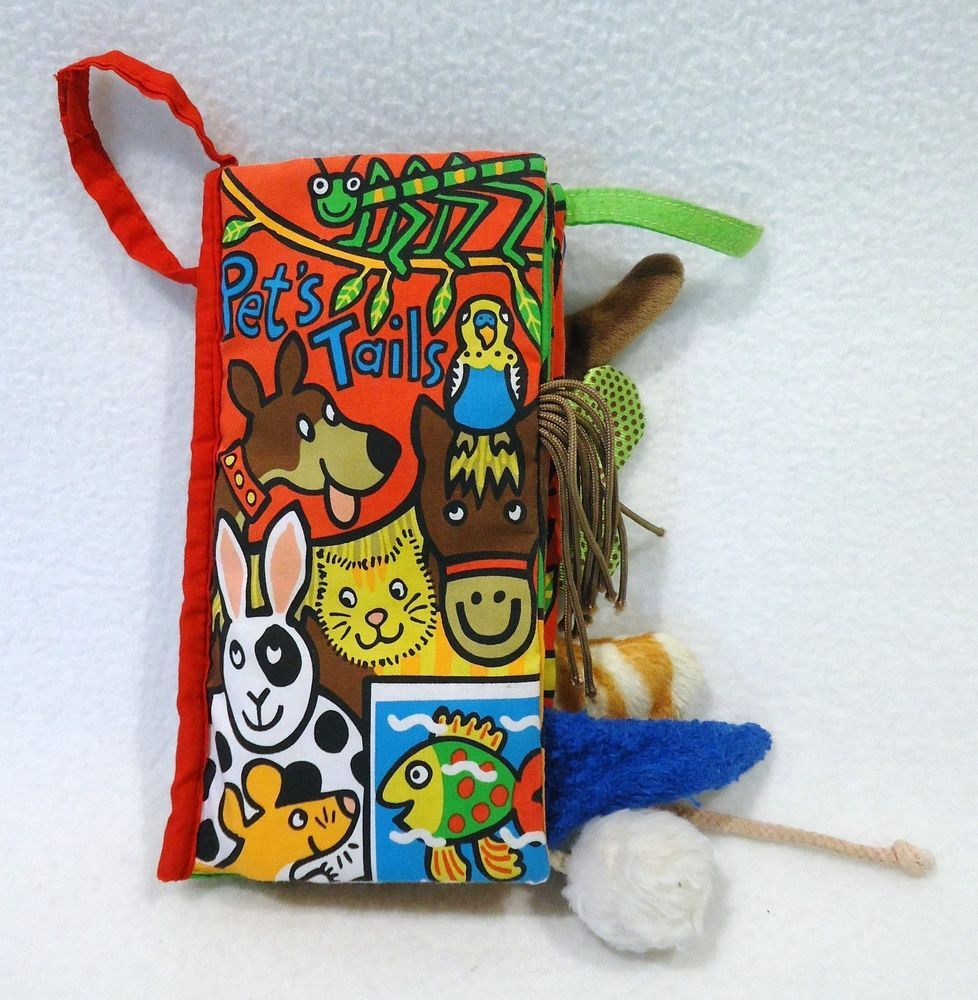 Little Jellycat Pet Tails Book Fabric Cloth Plush Sensory Crinkle Texture Ebay Jellycat Pets Plush