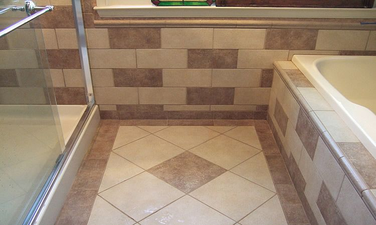 Tile Border Ideas Border Worked To Full Half Tile Dal Tile Village Bend Series Tile Diy Bathroom Remodel Shower Shelves Diy Remodel