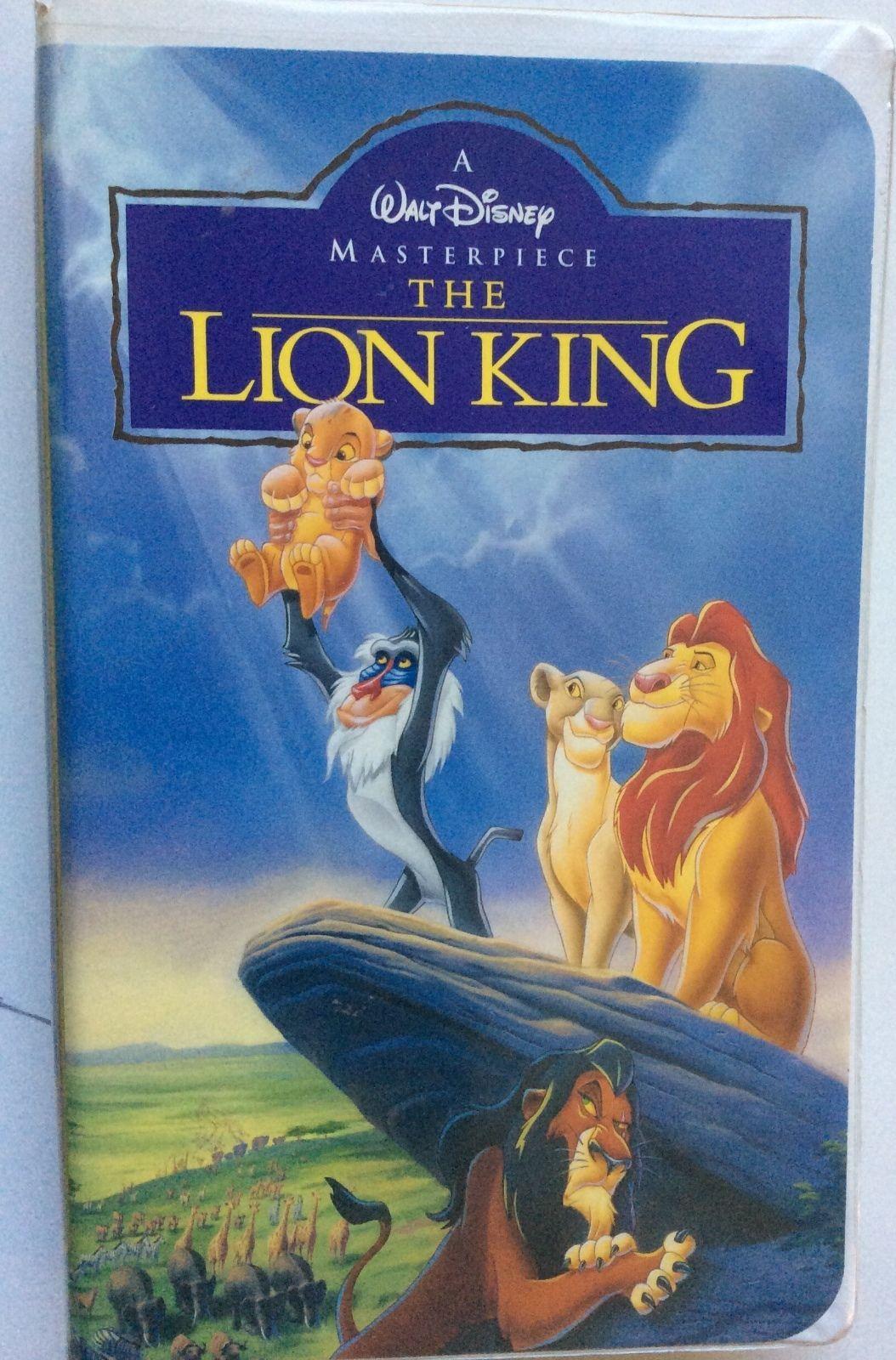 walt disney u0026 39 s masterpiece the lion king vhs video tape