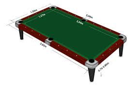 Awesome Official English Pool Table Dimensions   Home Decor
