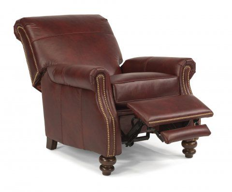 Bay Bridge Leather Power High Leg Recliner By Flexsteel Via Flexsteel Com High Leg Recliner Living Room Leather Recliner