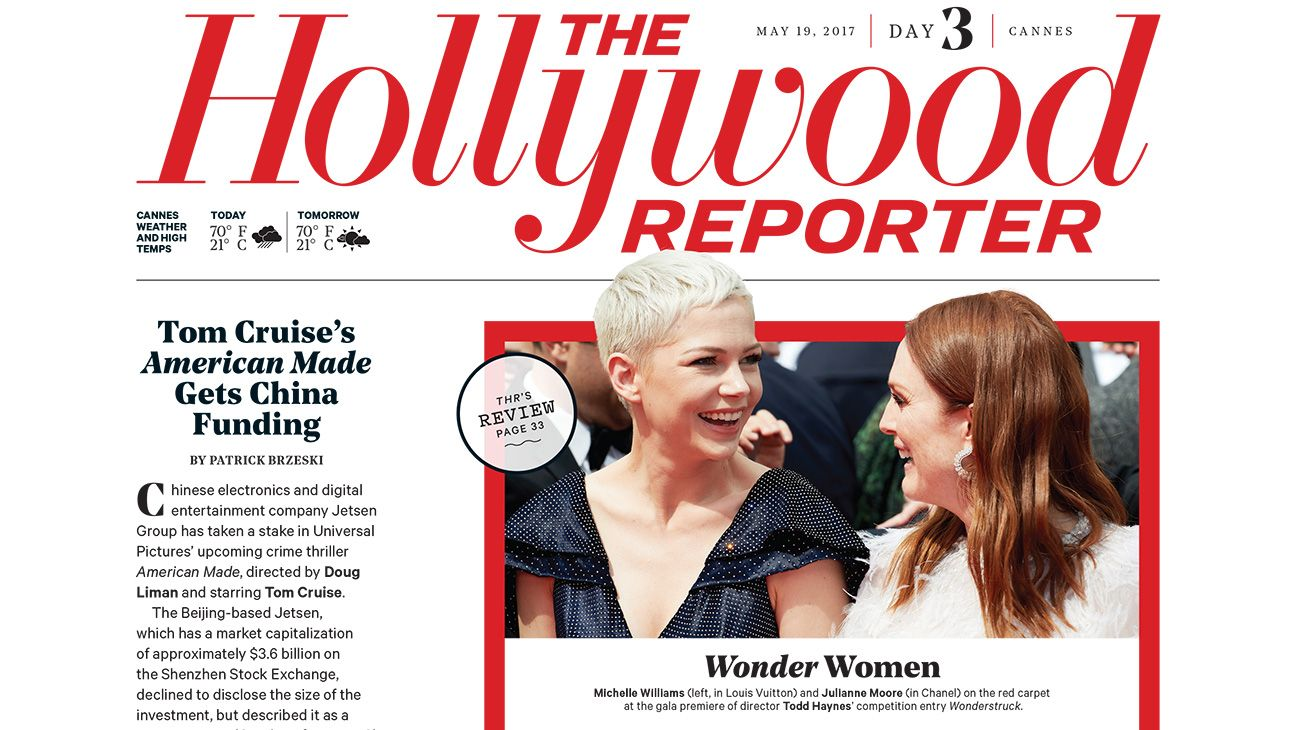 Cannes Download Thr S Day 3 Daily China Hollywood Co Productions Tom Cruise S American Made Financing And The Actor Who Will With Images Tom Cruise Cannes Lesley Gore