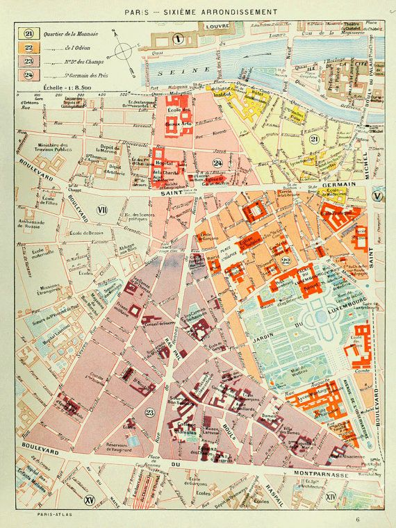 Map Of Paris France 6th Arrondissement.Map Of Paris Sixieme 6th Arrondissement Geography Mapping