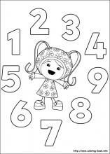team umizoomi millie numbers colouring page umi party pinterest