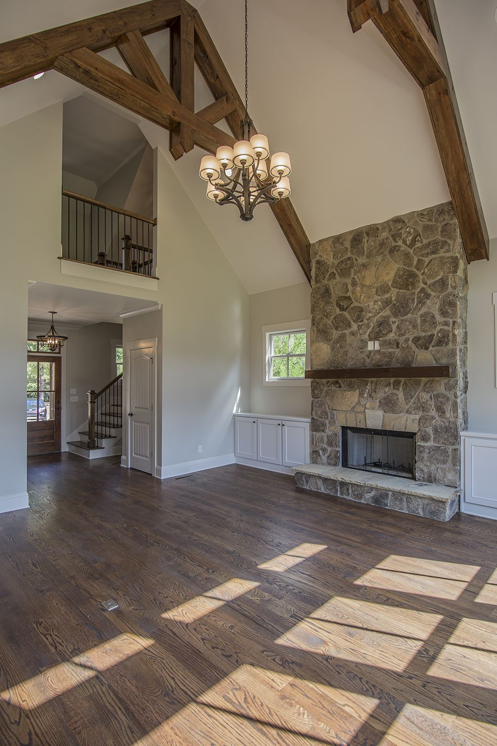 New Construction Home in Cuscowilla | Fireplace built ins ...