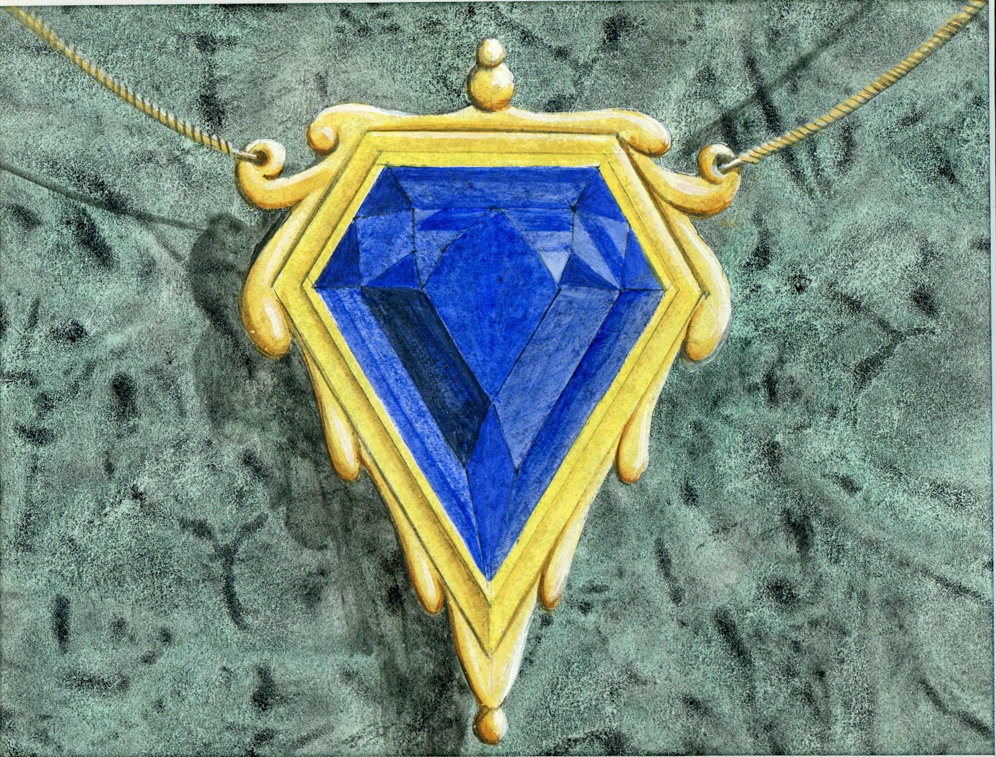 Mox Sapphire original art Magic The Gathering Pinterest