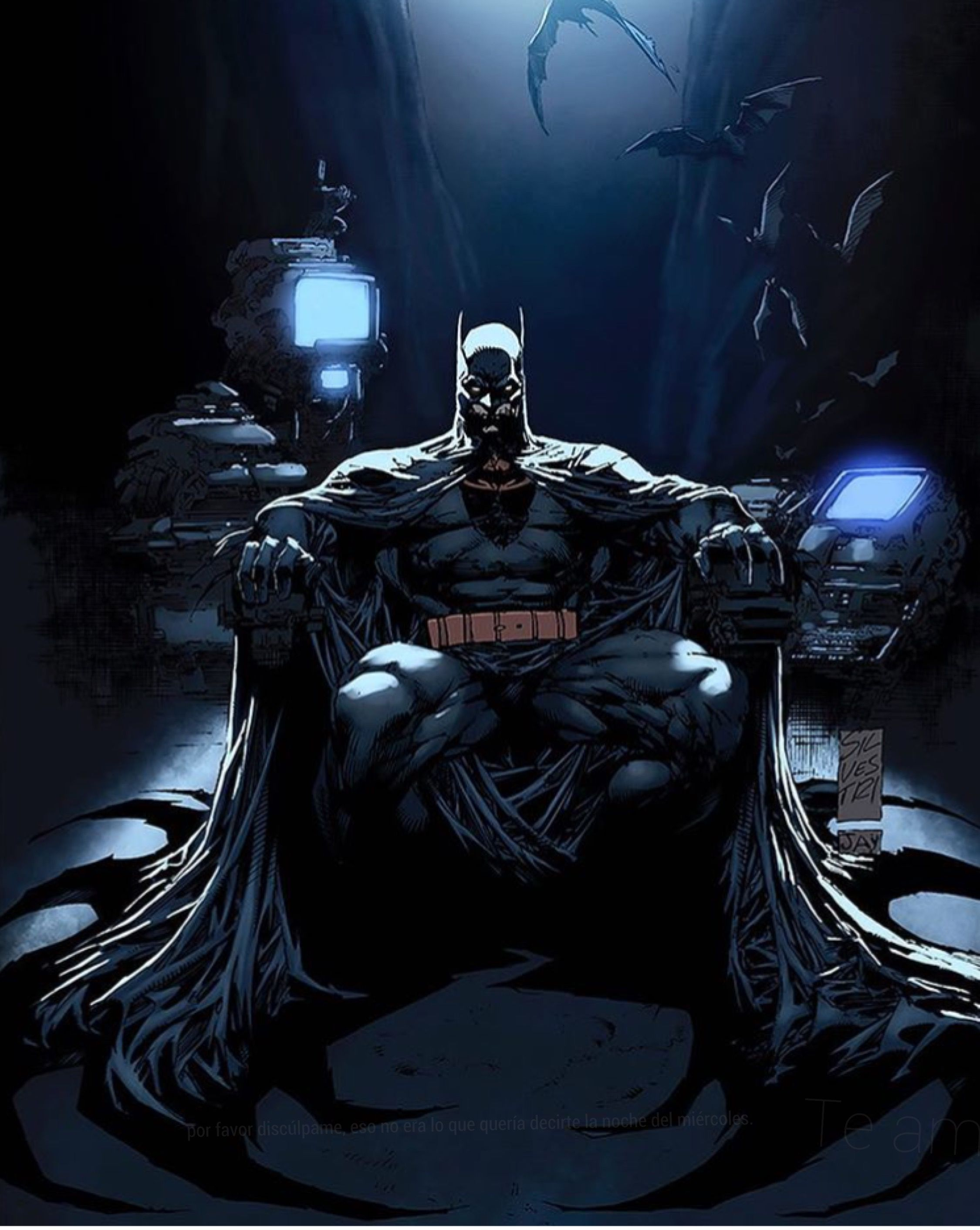 Sitting In The Batcave By Cjgamely Batman Cómic