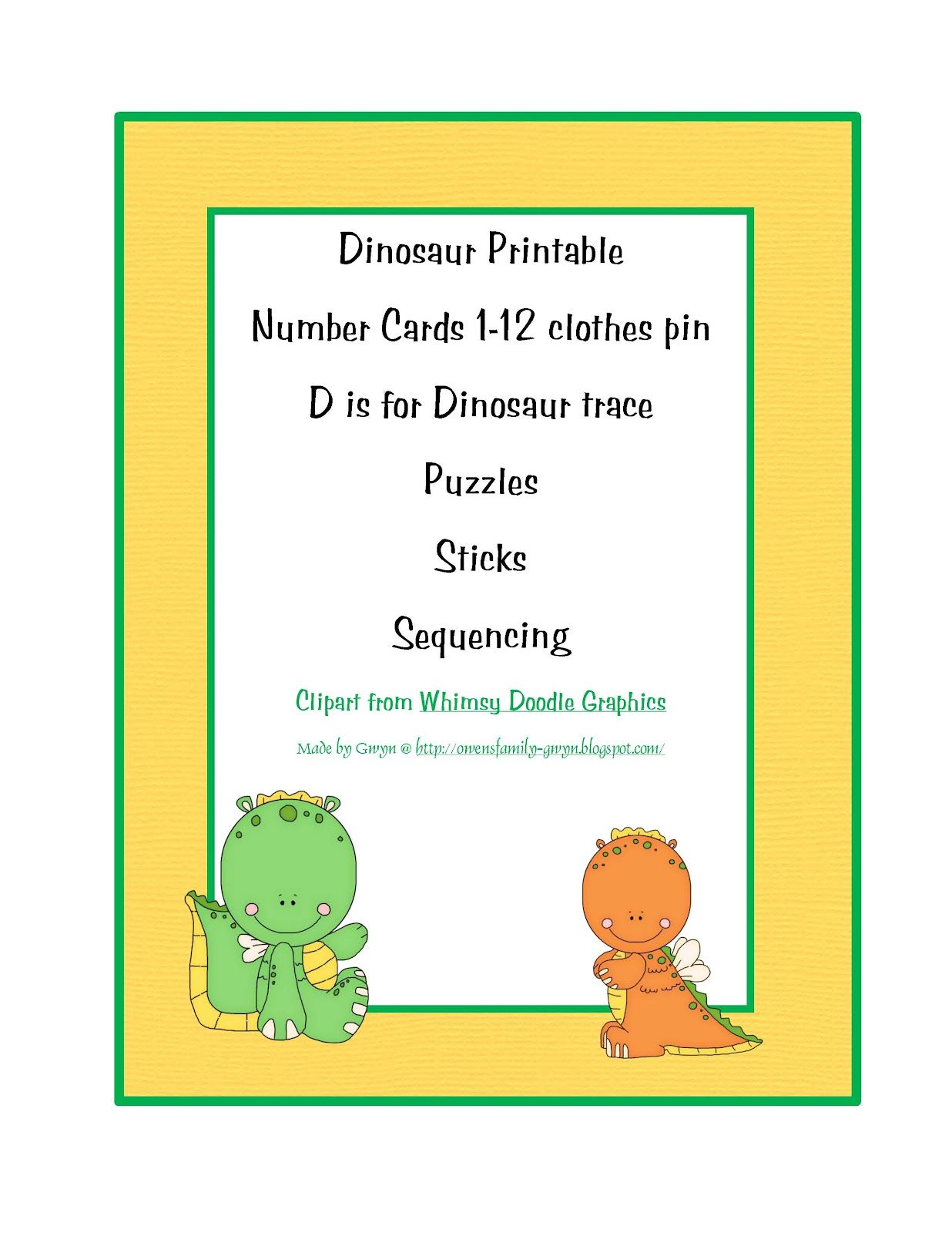 Preschool Printables Dinosaurs And Many Other Themes