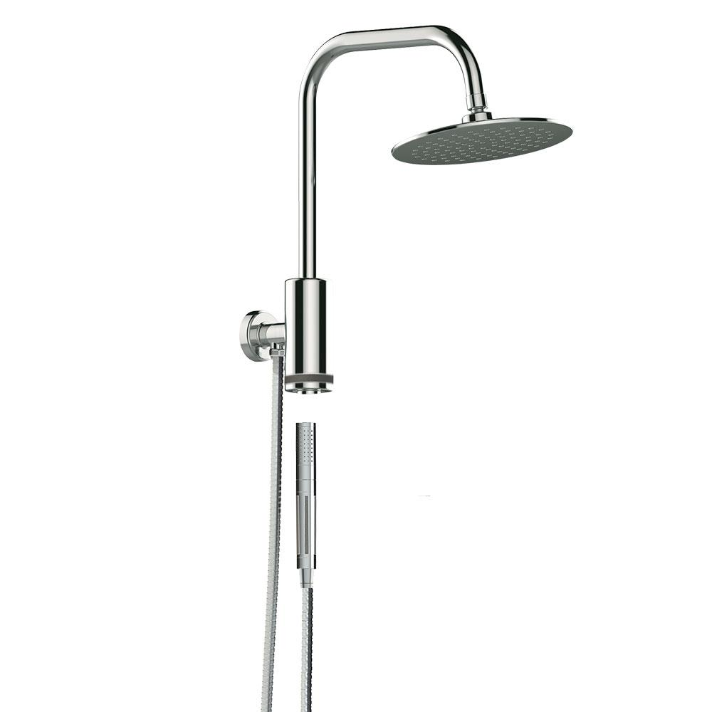Pulse Showerspas 1 Spray 8 In Dual Shower Head And Handheld Shower Head With Waterfall In Chrome 1052 Ch The Home Depot Shower System Shower Heads Handheld Shower Head Rain head shower kit