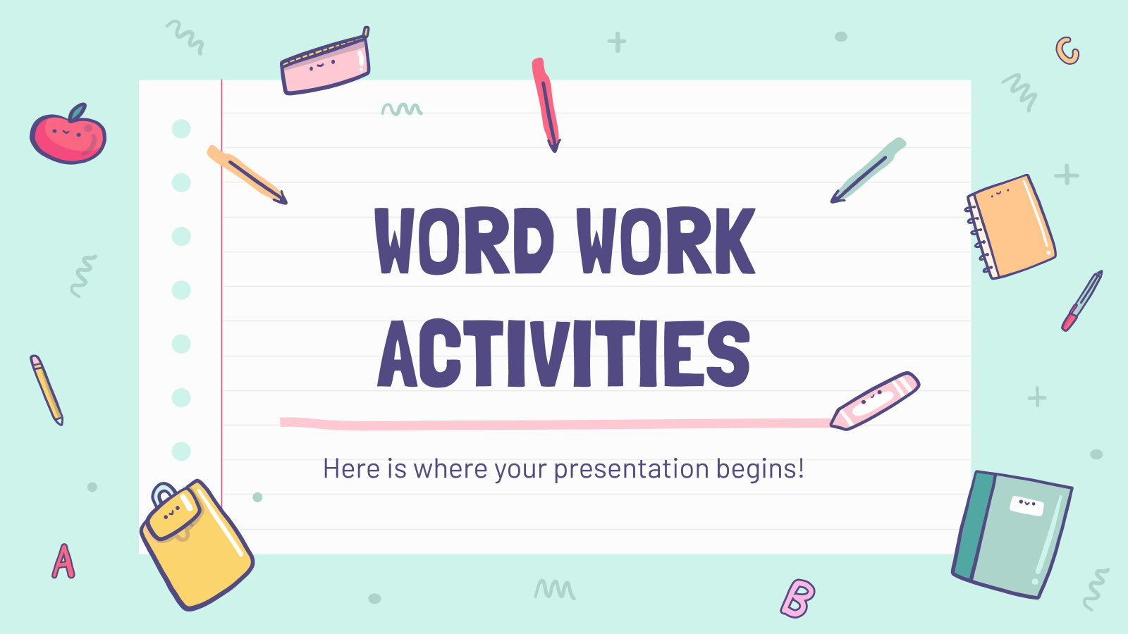Free Editor S Choice Google Slides Themes And Ppt Templates Word Work Activities Word Work Work Activities