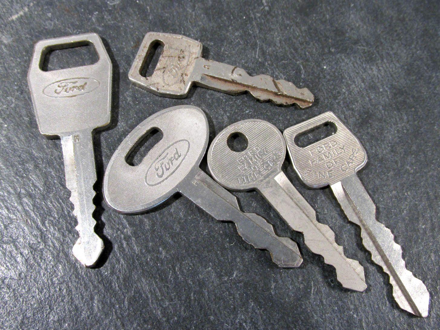 Ford Car Keys Vintage Keys Ford Car Keys Five 5 Vintage Ford