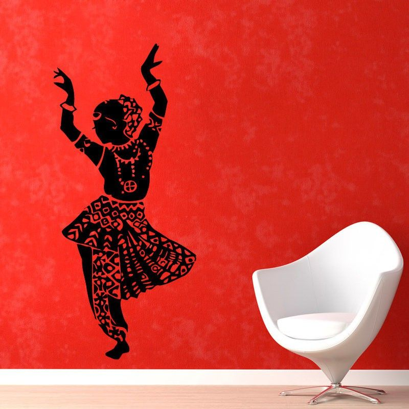 Indian Woman Belly Dance Wall Stickers Home Decorative Removable - Vinyl wall decal adhesive