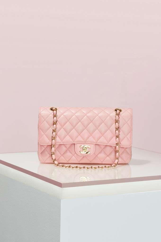 ebad57561158ad Vintage Chanel 2.55 Pink Caviar Leather Bag | Shop Vintage at Nasty Gal!