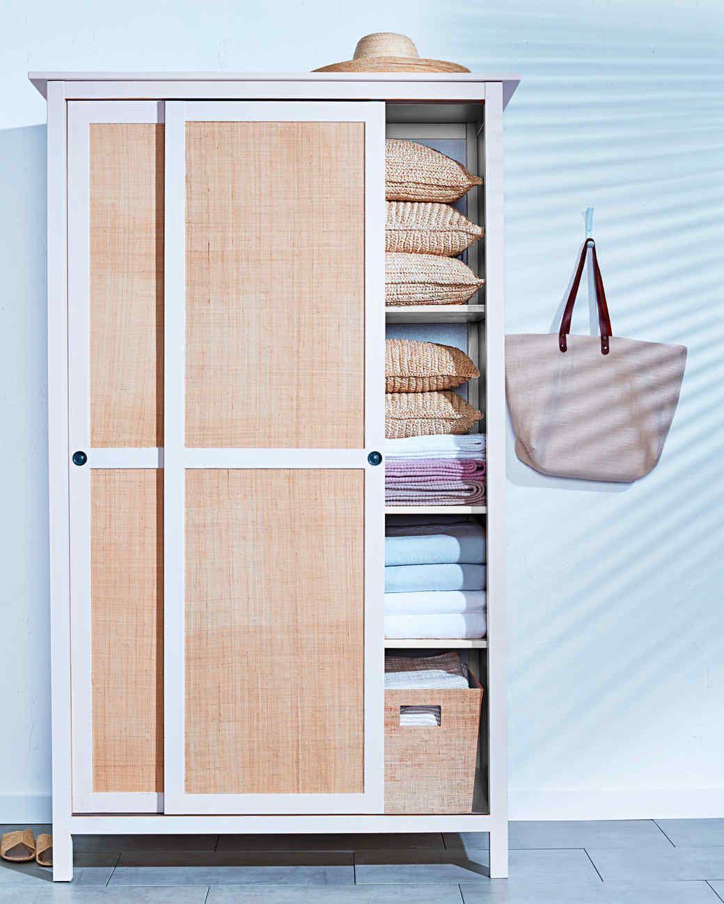 Raffia Door Panels Home Diy Ikea Wardrobe Home Projects