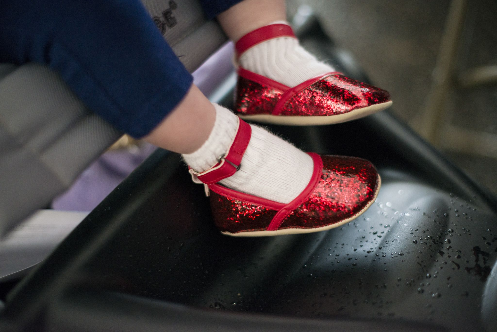Sparkly red princess shoes