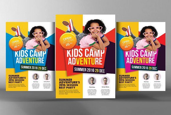 Kids Summer Camp Flyer Template By Business Templates On