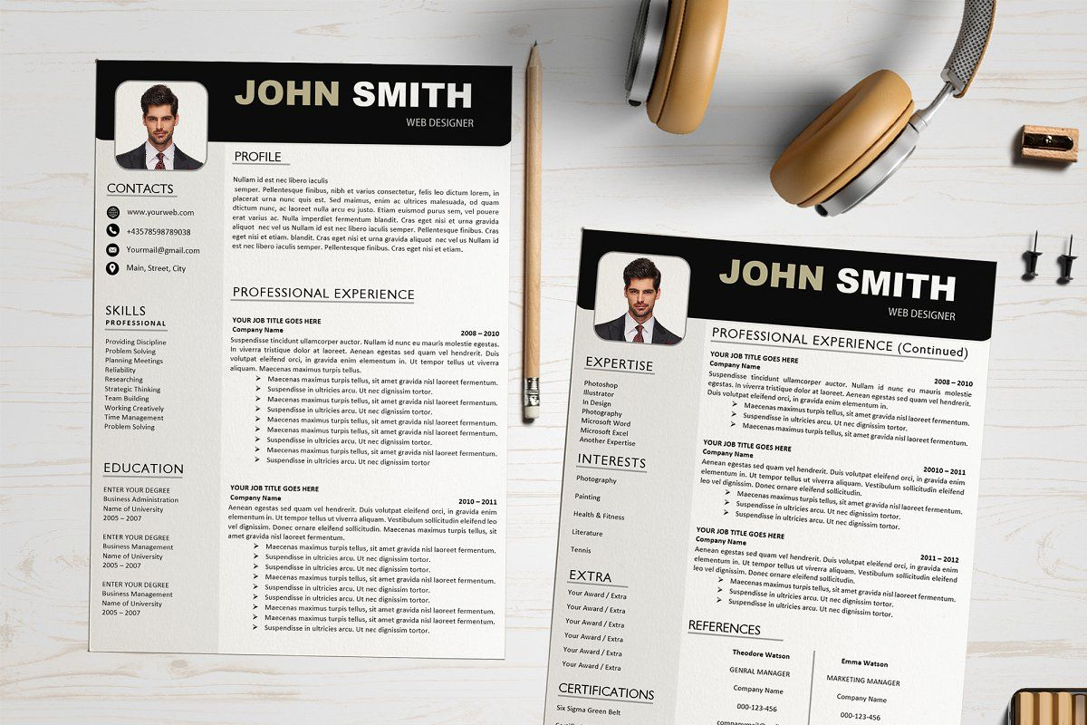 Creative Resume Template Affiliate Unique High Quality Ideas