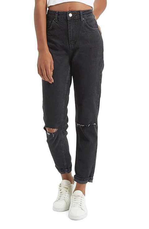 amazing price footwear official supplier Topshop in 2020 | Ripped mom jeans, Mom jeans outfit, Black ripped ...