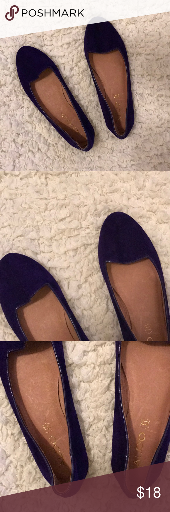 a3bfd204d05 ALDO Dark Purple Loafers  NEVER WORN  Dark Purple Never Worn Aldo Loafers.  Size 38 (7.5) Aldo Shoes Flats   Loafers