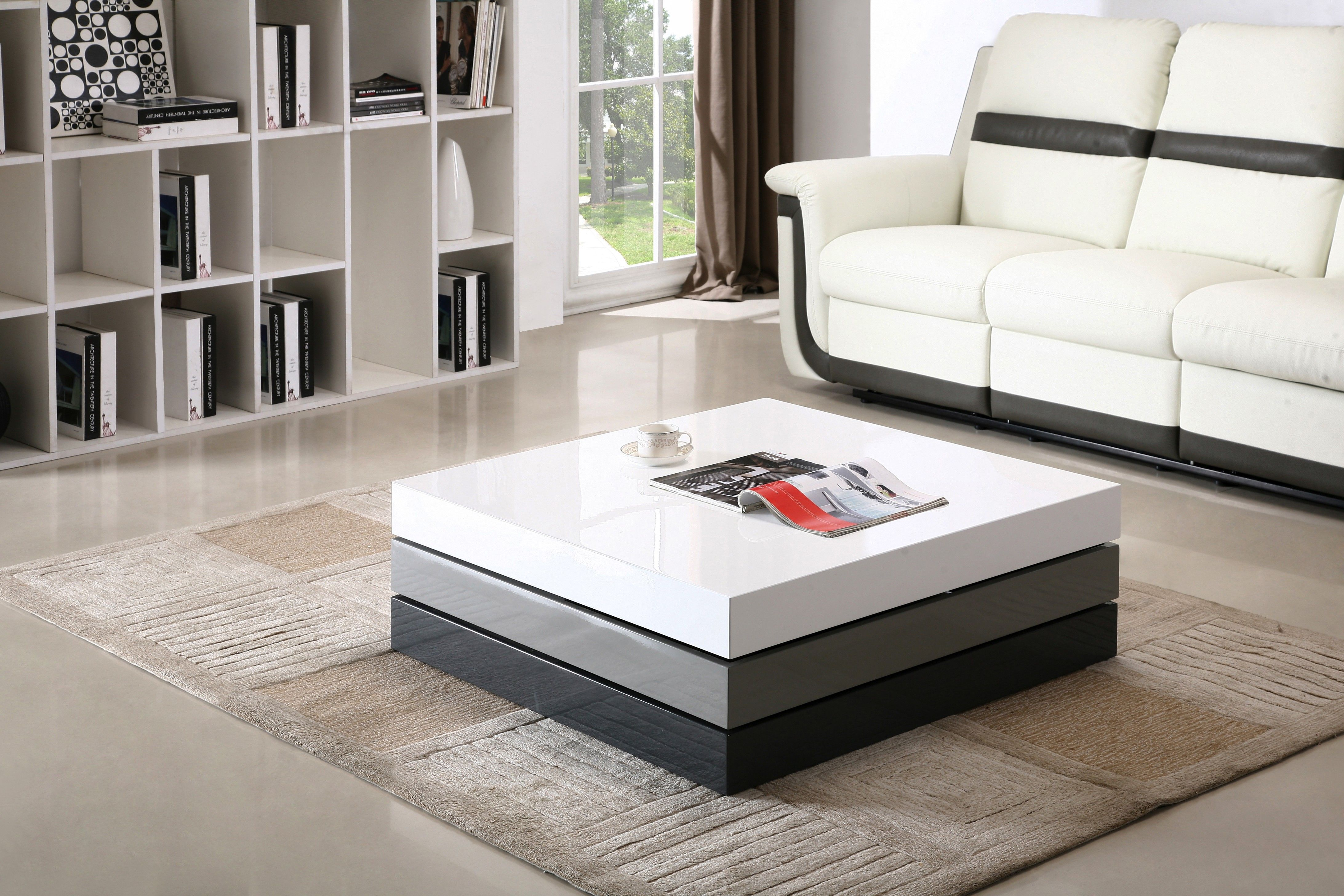 Modern Design A Stunning Architectural Coffee Table With Three