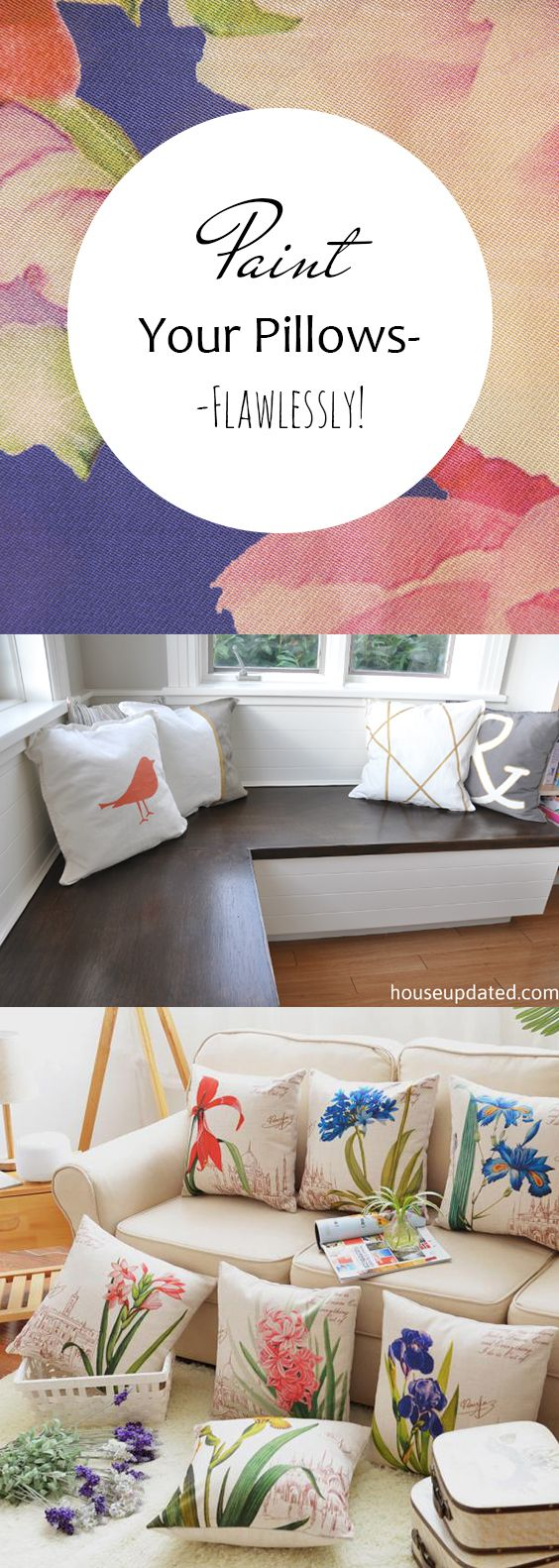 Paint your pillowsflawlessly decor crafts pillows and craft