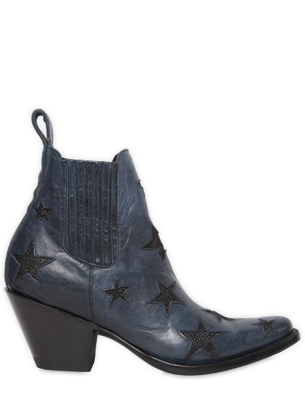 MEXICANA 65MM STARS LEATHER ANKLE BOOTS. #mexicana #shoes #