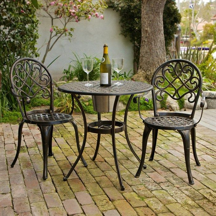 Best Cast Aluminum Outdoor Patio Bistro Furniture Sets Reviews Accessories The Christopher Knight