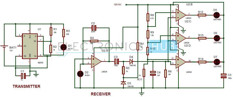 Reverse Parking Sensor Circuit For Car Security System Electronics