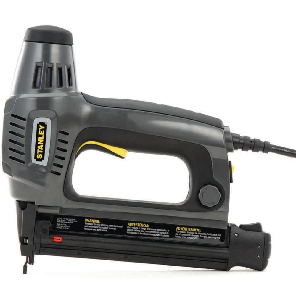 Stanley 1 In Electric Brad Nailer Tre650 The Home Depot Brad Nailer Nailer Home Depot