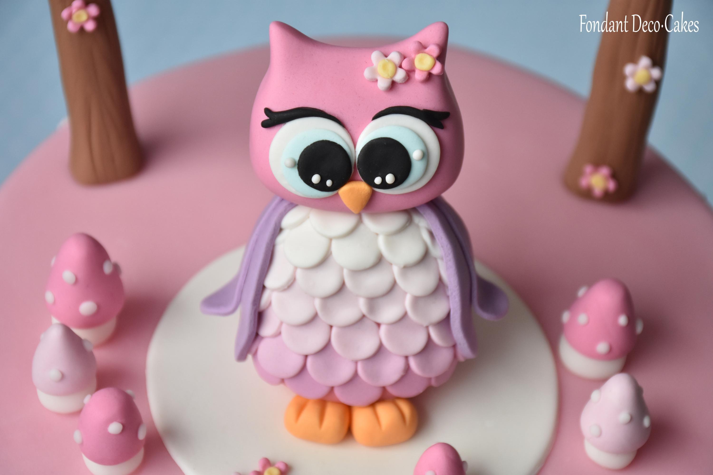 Fondant Torta Lechucita Eule Torte Tortendeko Pinterest