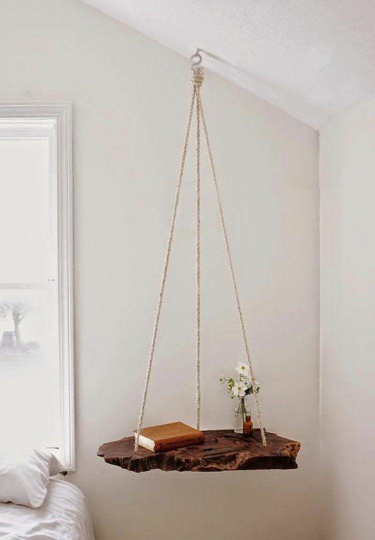 wohnung einrichten tipps fürs schlafzimmer diy nachttisch hängend, Wohnzimmer dekoo