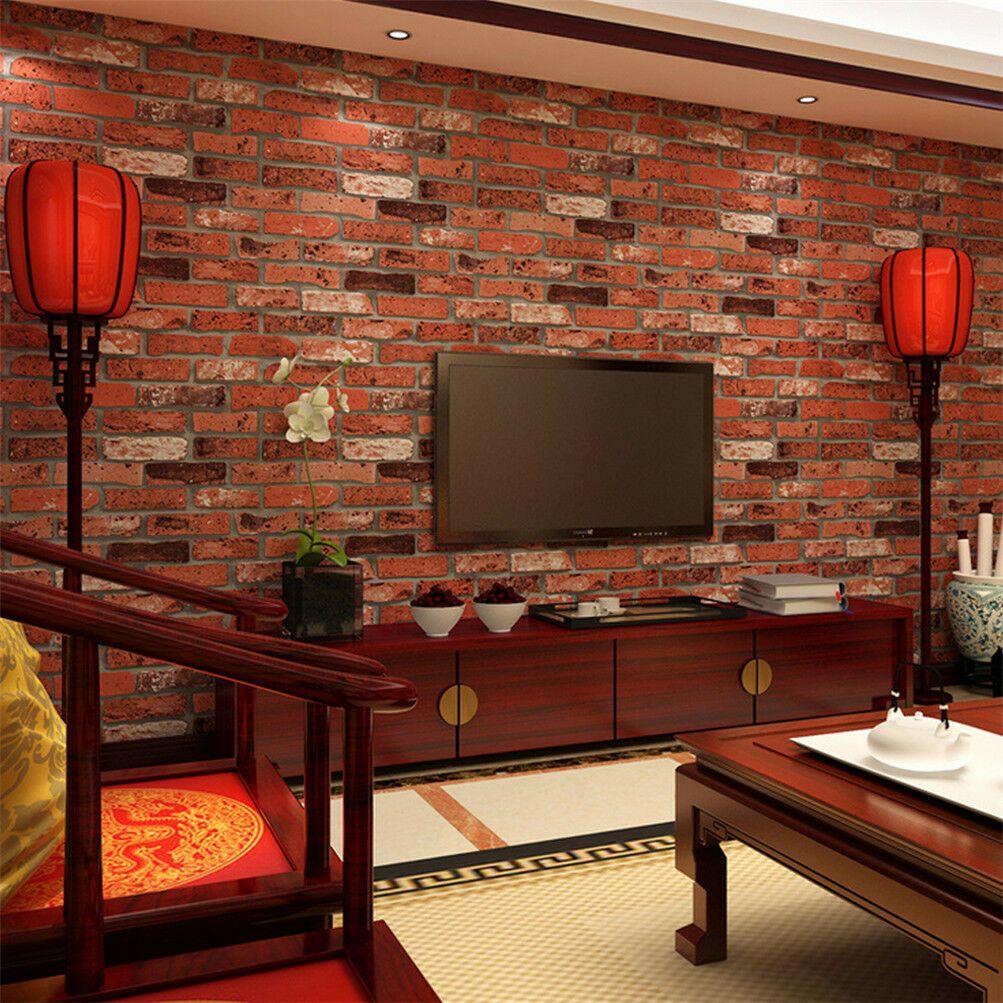 3D Selfadhesive Wallpaper Realistic Barnwood Brick Roll