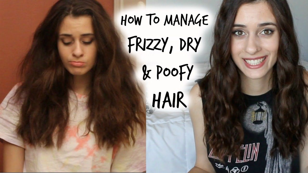 how to manage curly, frizzy & poofy hair | my hair care
