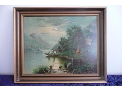 Oliemaleri J Mertens Painting Art Decor
