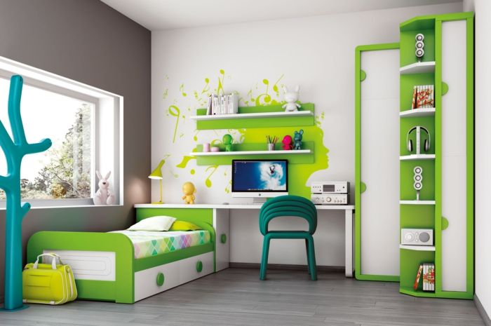 m bel kinderzimmer 39 beispiele wie sie mit farbe einrichten pinterest m bel kinderzimmer. Black Bedroom Furniture Sets. Home Design Ideas