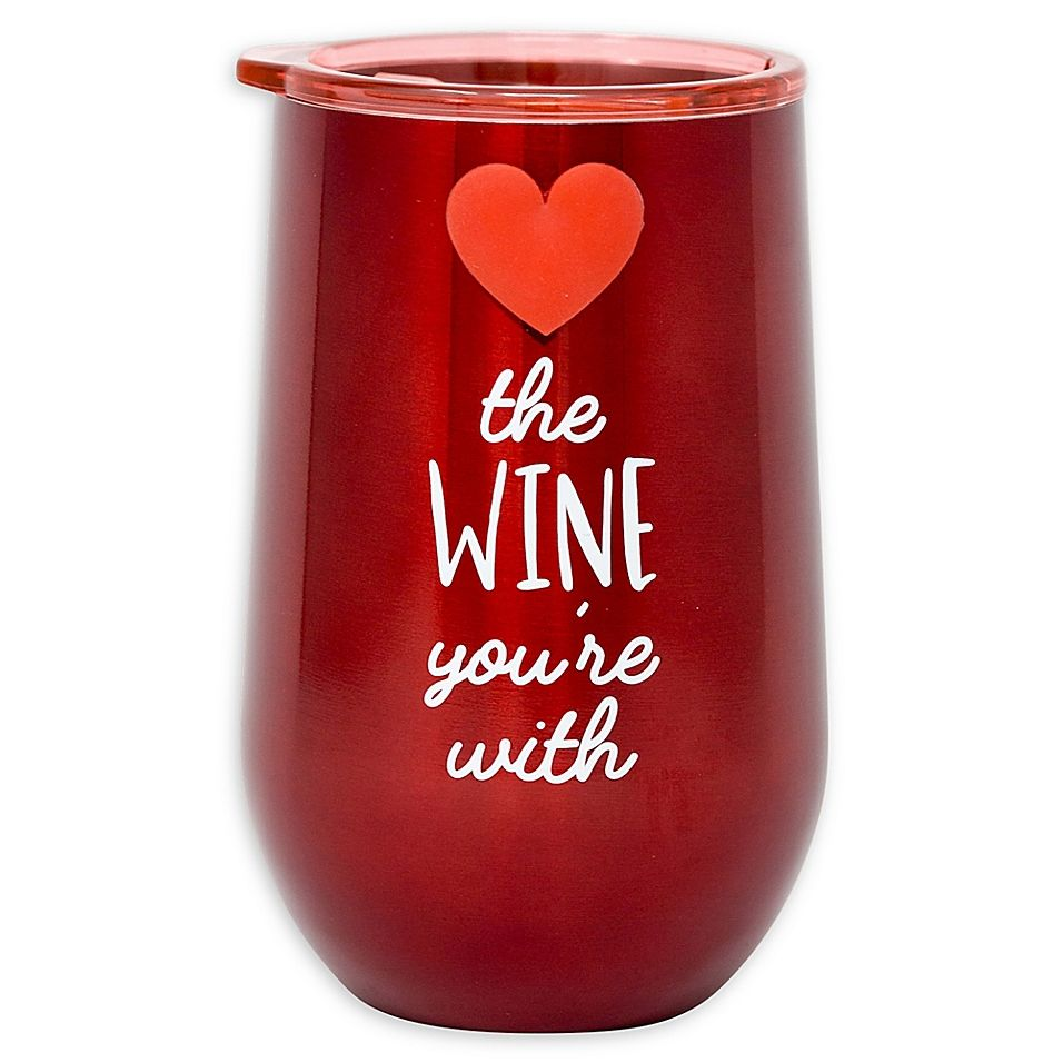Stainless Steel Love The Wine Wine Tumbler Bed Bath Beyond In 2020 Wine Tumblers Wine Grape Uses