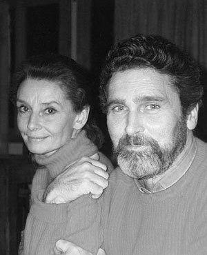 Audrey Hepburn at home in La Paisible with Robby Wolders, 1989. Family photo. (Scanned from the book The Audrey Hepburn Treasures.)
