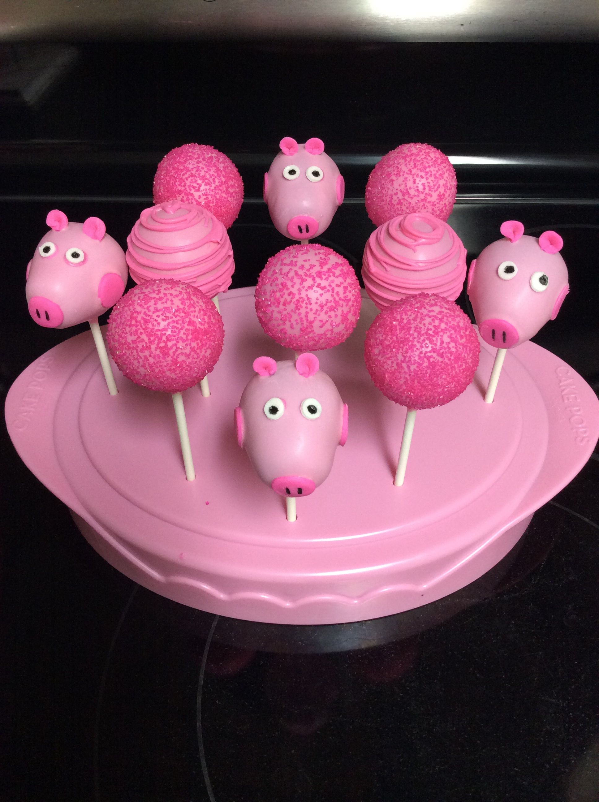 peppa pig cake pops sallyscakepops peppa pig recipes pinterest pyssel bakverk och dekoration. Black Bedroom Furniture Sets. Home Design Ideas