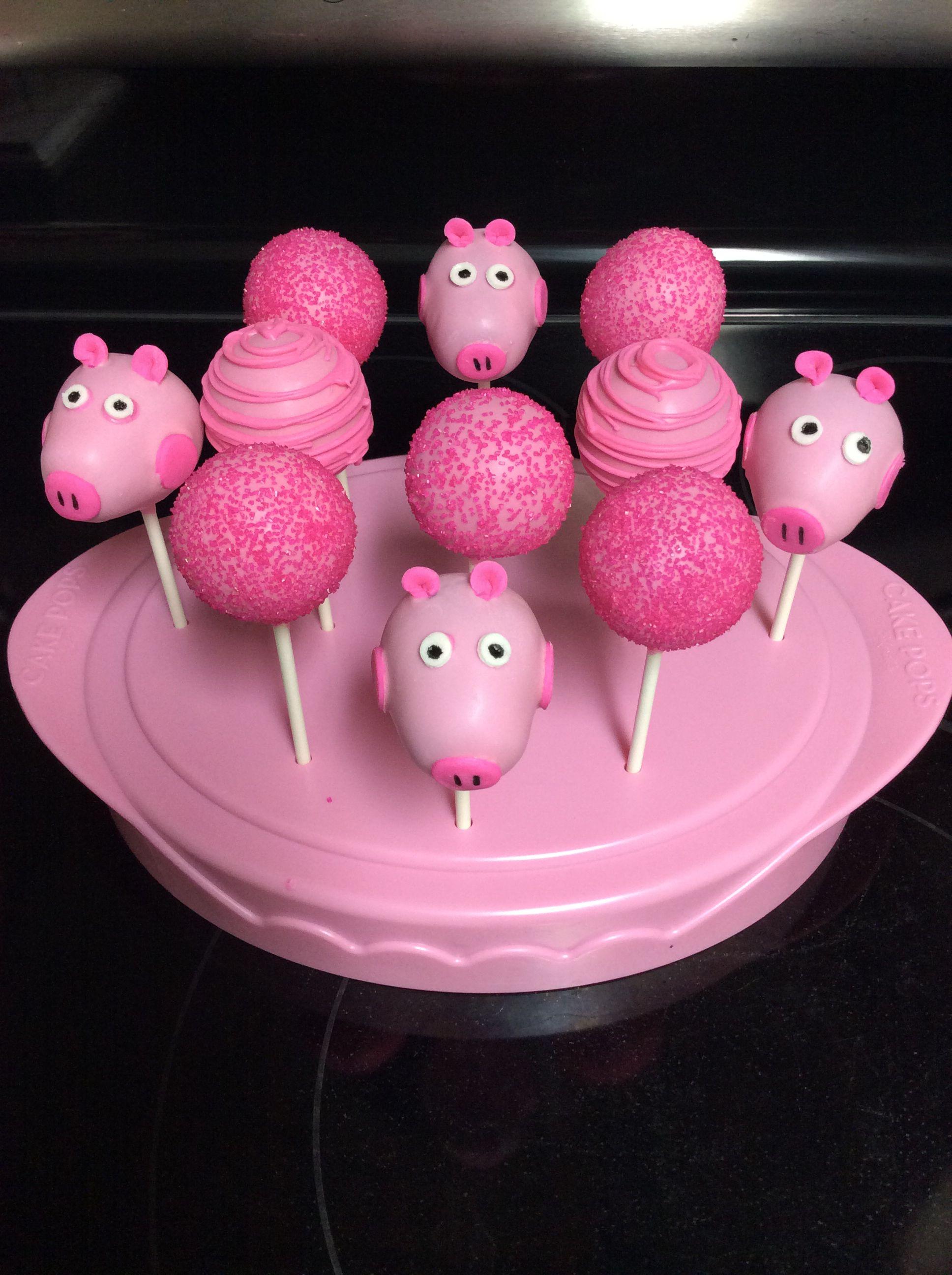 Peppa Pig Cake Pops Sallyscakepops Peppa Pinterest