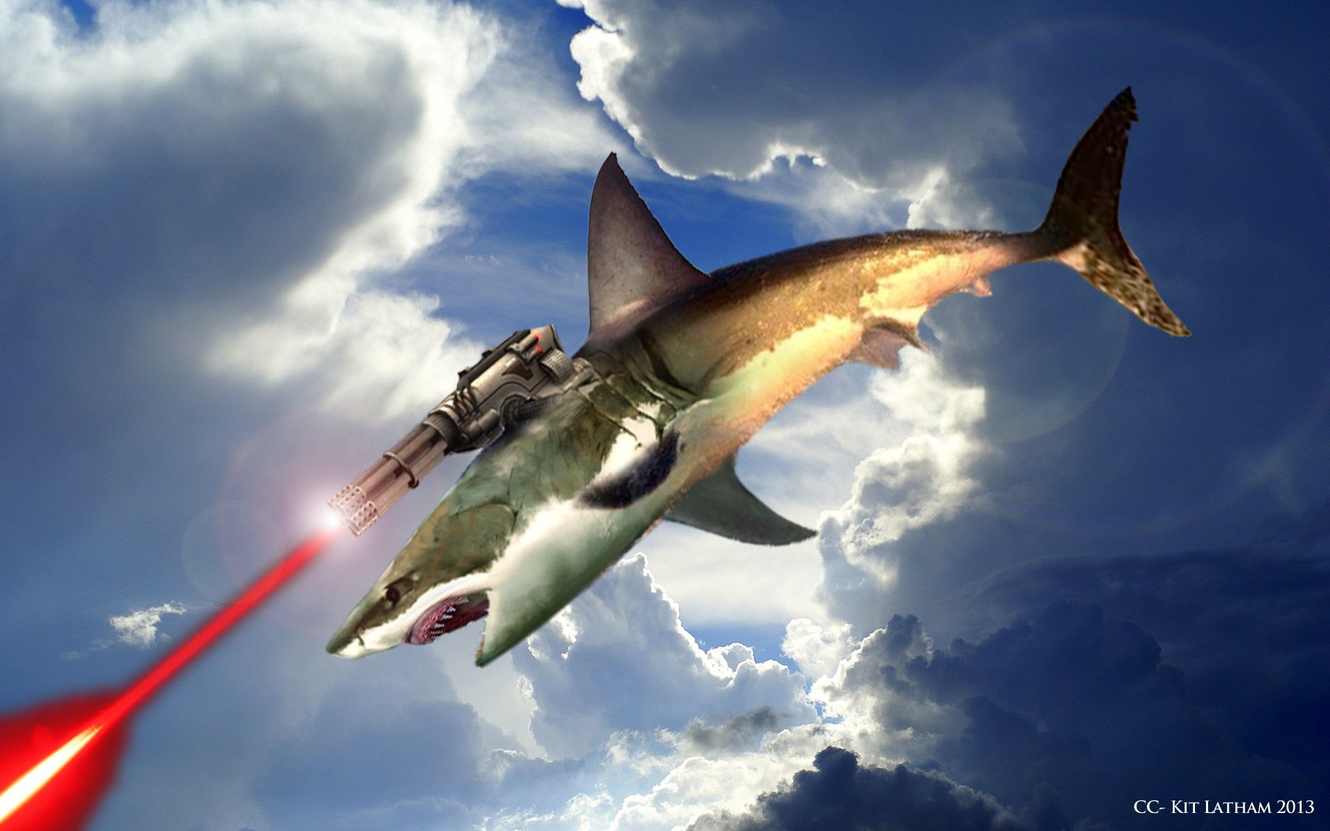 flying sharks with lasers