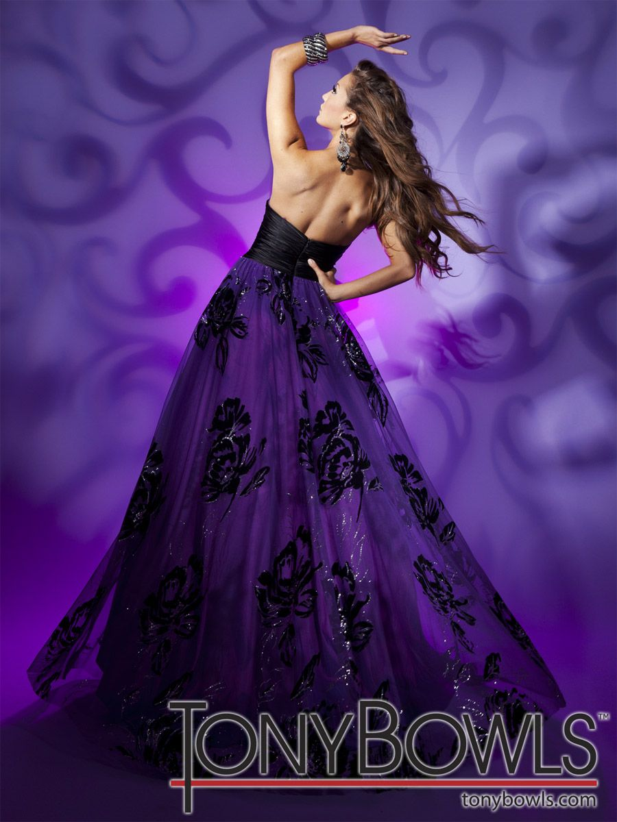 Mardi Gras Dresses - Tony Bowls Paris 112743 Strapless Ball Gown ...