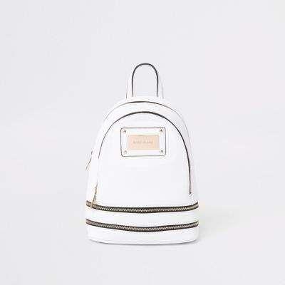 4c1a32e7d7 River Island White zip around mini backpack