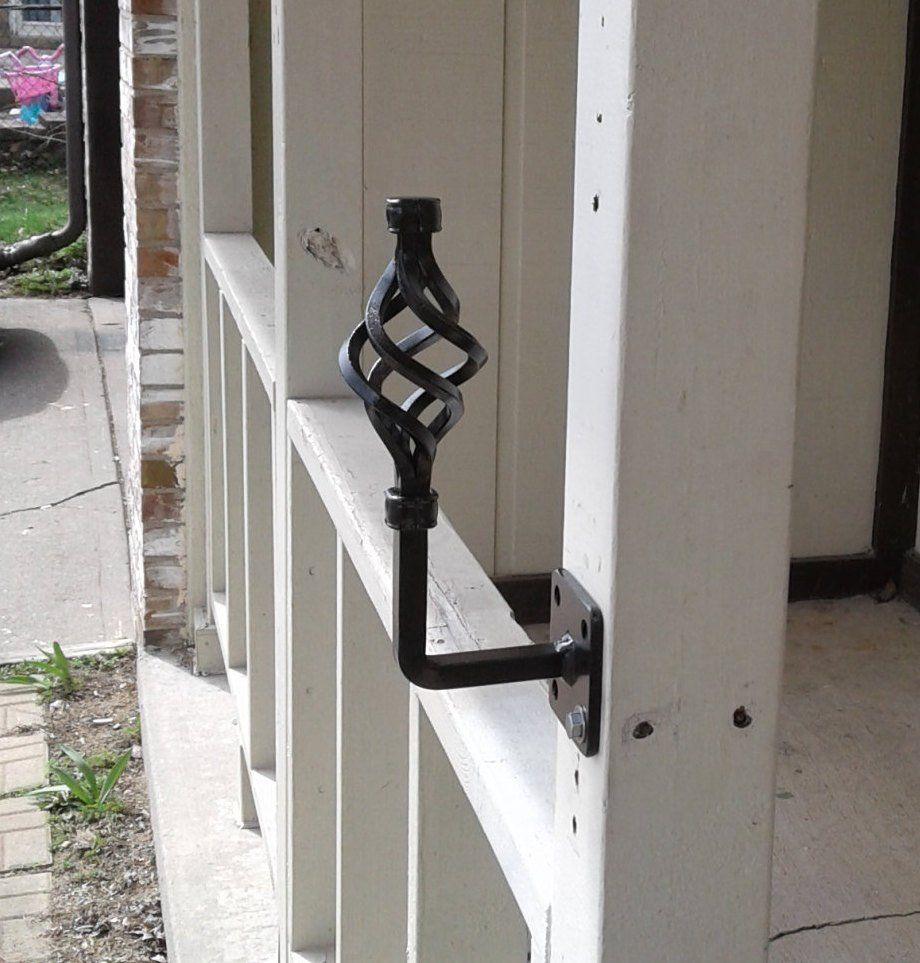 New Wrought Iron Handrail Grab Rail 1 2 Step Small Porch Decor Metal Art Black Post Mount Bracket Handle Wrought Iron Handrail Iron Handrails Handrail