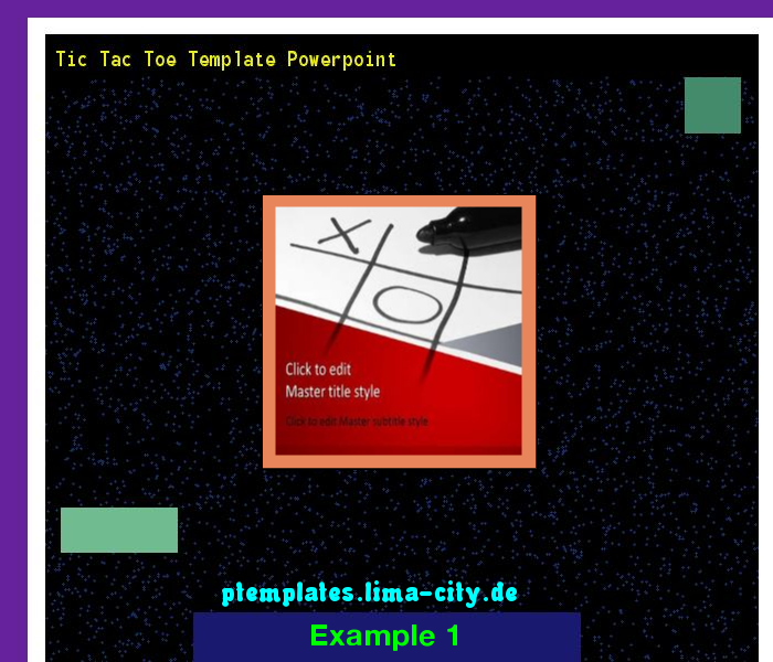 Tic Tac Toe Template Powerpoint Powerpoint Templates 133822 The
