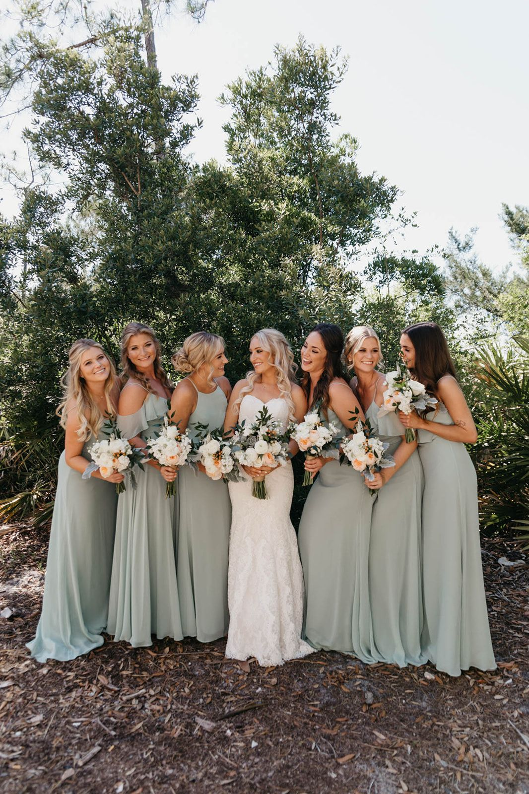 Sage Green bridesmaid dresses for spring  Sage bridesmaid dresses