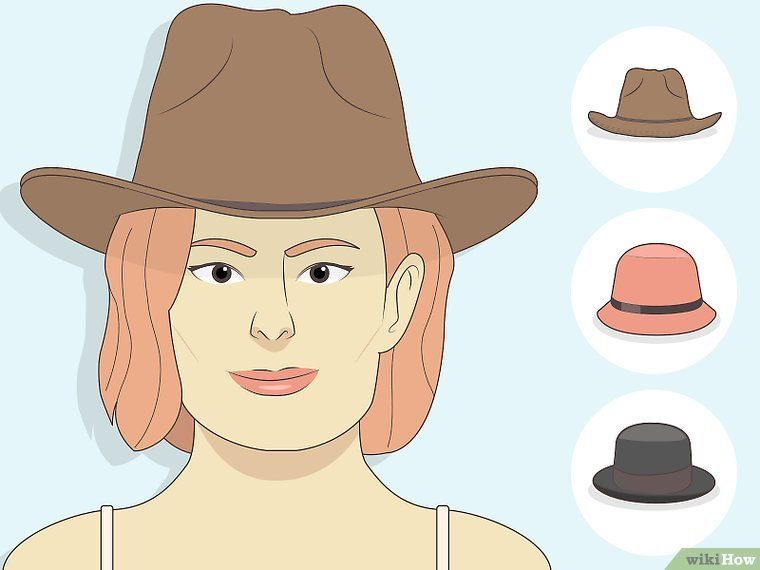 How To Choose Hats For Your Face Shape With Pictures Hats Face Shapes Types Of Hats