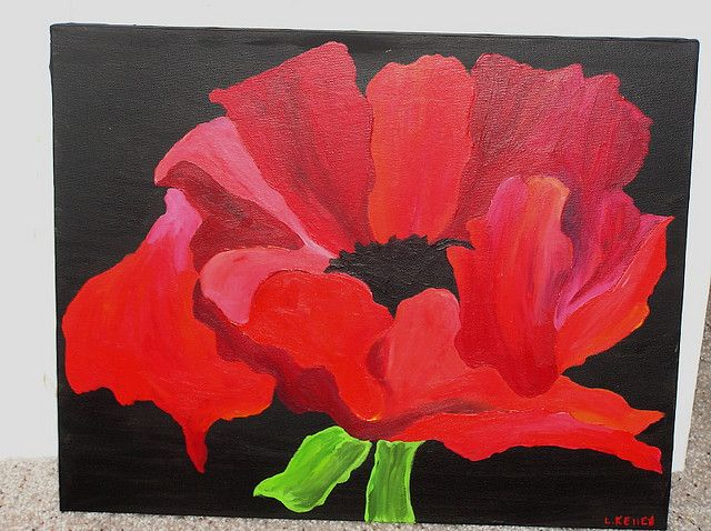;o)  Shanna'sPoppy by LauraKelley @ http://pitterpatterart.wordpress.com/