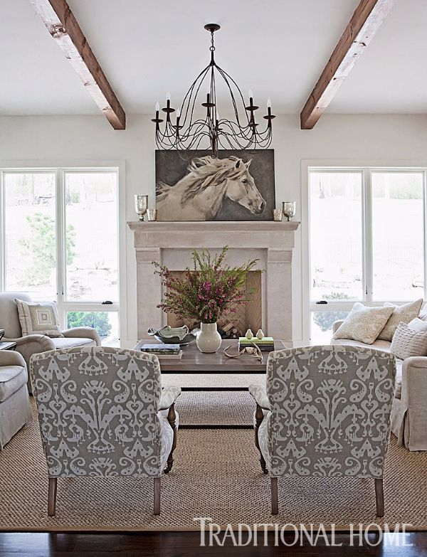 The Living Room Wears A Calming Palette Of Creams And Graysa Delectable Living Room Design 2014 Design Decoration