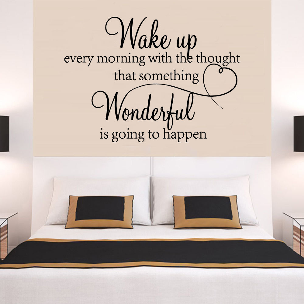 Big Heart Family Wonderful Bedroom Quote Wall Stickers Room