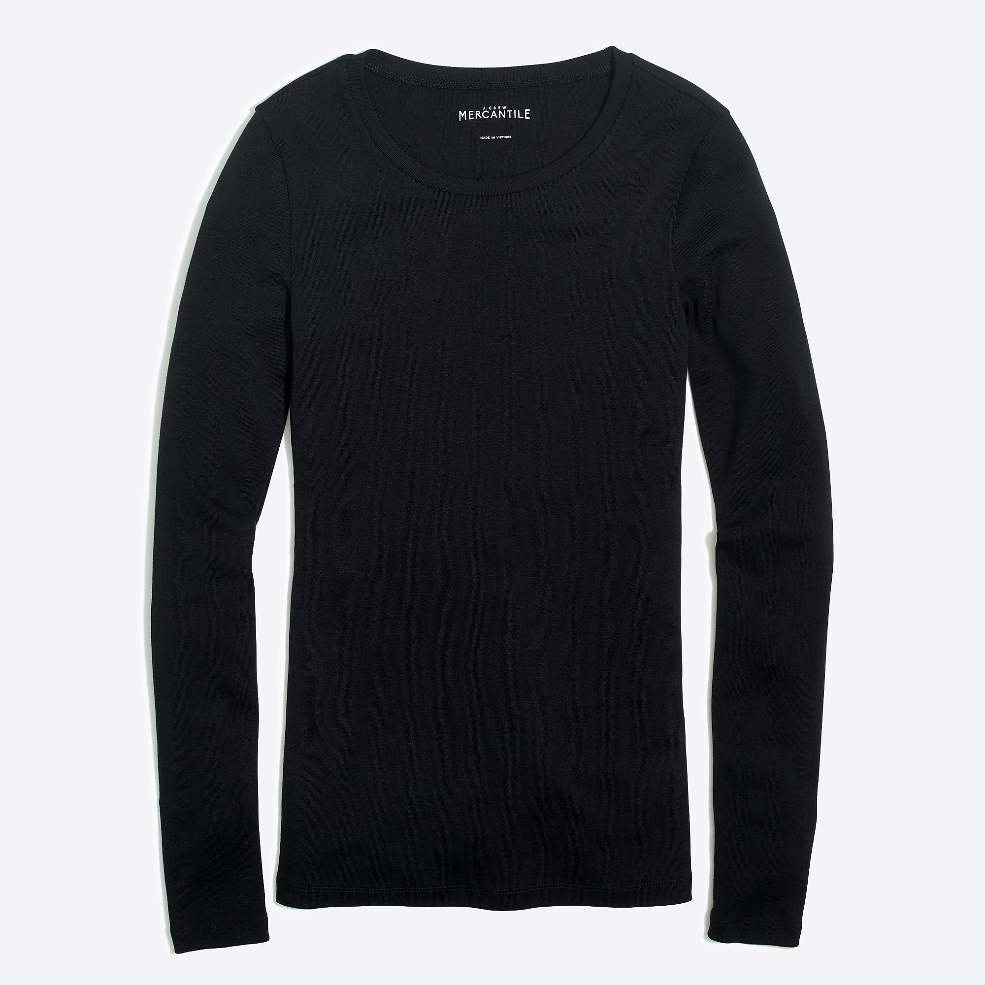 0e1fbed9a124 J.Crew Fine-rib cotton long-sleeve T-shirt in 2019 | Basics | Long ...